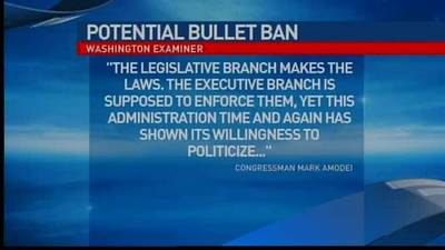 News video: President Obama proposes bullet ban, Amodei resp
